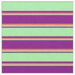 [ Thumbnail: Purple, Green & Red Pattern Fabric ]