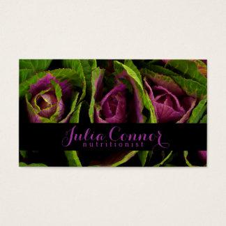 Purple Green Salad Nutritionist Business Card