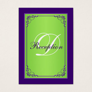 Purple, Green Scroll Reception Enclosure Card