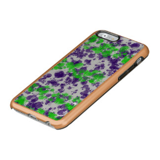 Purple Green Splash Rose Gold Incipio Feather Shine iPhone 6 Case