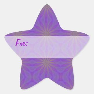 Purple & Green Stars Gift Tag Star Sticker