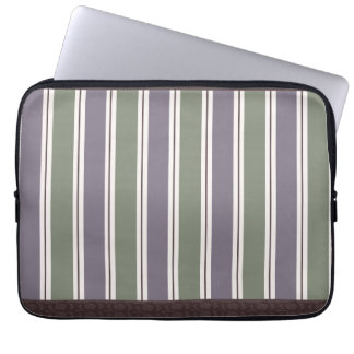 Purple & Green Stripes Laptop Sleeve