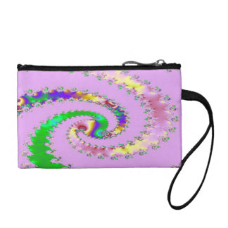 Purple Green Swirl Art Bagettes Bag - Awesome