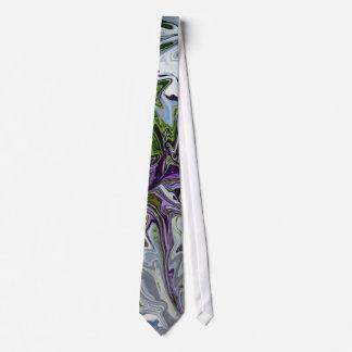 Purple Green swirl Tie