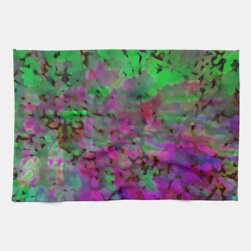Purple Amp Green Tie Dye Kitchen Towels Zazzle