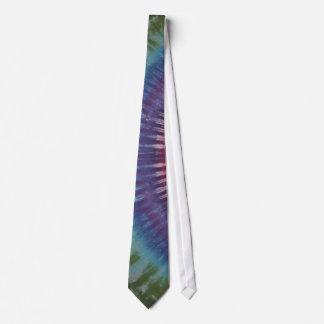 Purple & Green Tie Dye Necktie