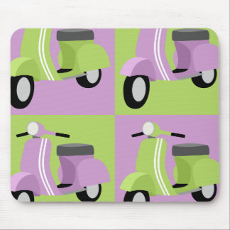 Purple & Green Vespa Mouse Pad