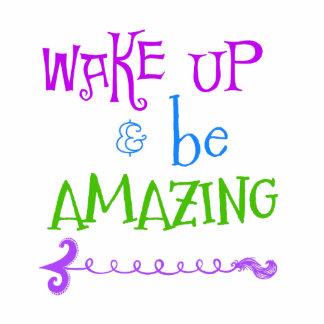 Purple, Green Wake up; Be Amazing Statuette