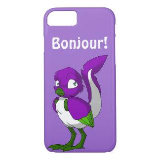 Purple/Green/White Reptilian Bird Bonjour iPhone 7 Case