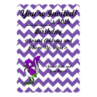 Purple/Green/White Reptilian Bird Card
