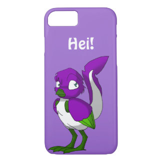 Purple/Green/White Reptilian Bird Hei iPhone 7 Case