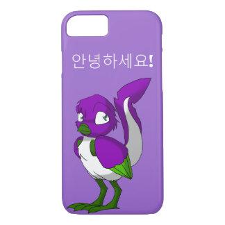 Purple/Green/White Reptilian Bird Korean Hello iPhone 7 Case