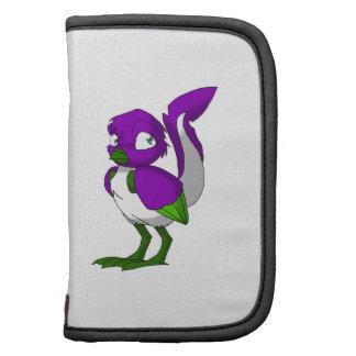 Purple/Green/White Reptilian Bird Organizer