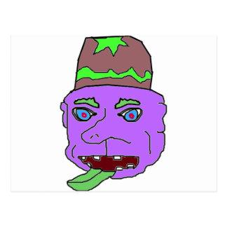Purple Gremlin Head Post Card