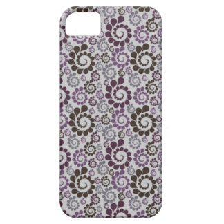 Purple Grey Brown Swirls iPhone 5 Case