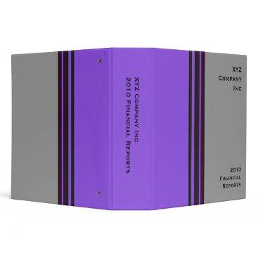 Professional Business purple grey business 3 ring binder