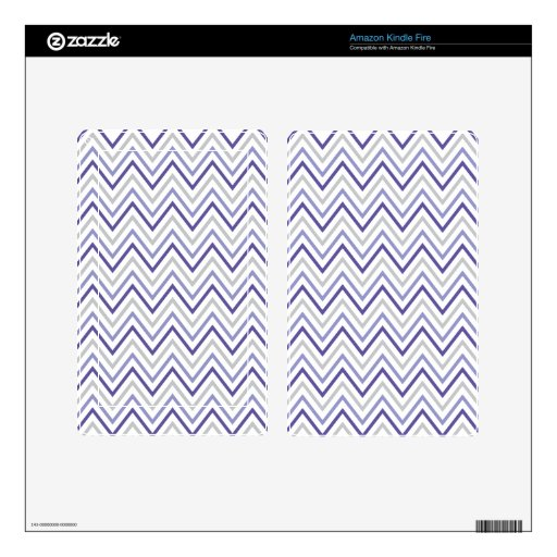Purple Grey Chevron Zigzag Monogram Pattern Decal For Kindle Fire