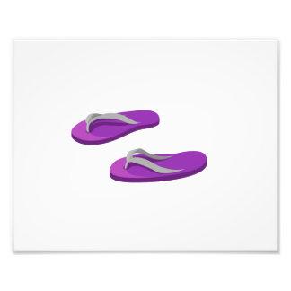 purple grey flip flops offset.png photo print