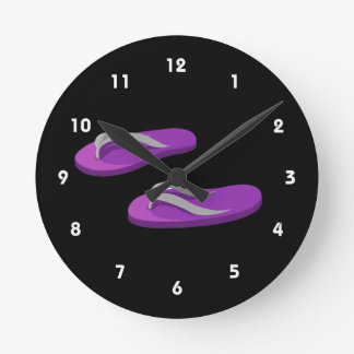purple grey flip flops offset.png round clock