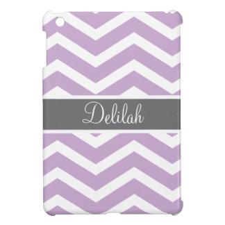 Purple Grey Gray Chevron Custom iPad Mini Cases