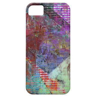 Purple Grid iPhone SE/5/5s Case