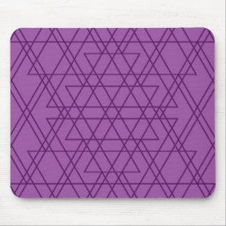 Purple grid Mousepad