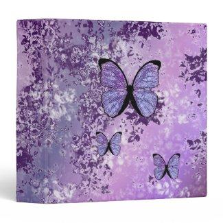 Purple Grunge Binder