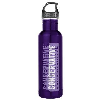 Purple Grunge Conservative 24oz Water Bottle