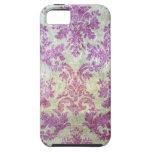 Purple Grunge Damask iPhone 5 Case