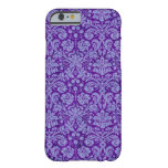 Purple Grunge Damask iPhone 6 Case