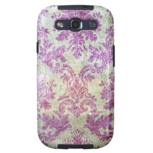 Purple Grunge Damask Samsung Galaxy S3 Cover