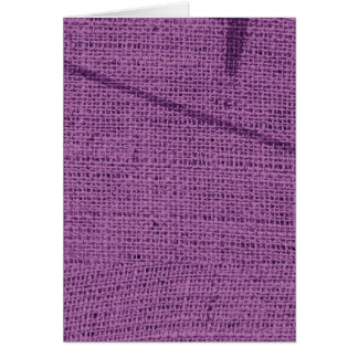 Purple grunge fabric background type design card