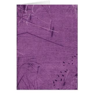 Purple grunge fabric background type design cards