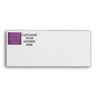 Purple grunge fabric background type design envelope