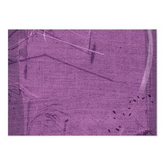 Purple grunge fabric background type design personalized invites