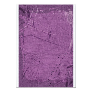 Purple grunge fabric background type design invitations