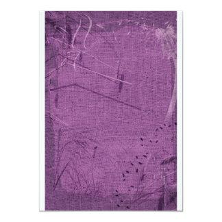 Purple grunge fabric background type design custom invite