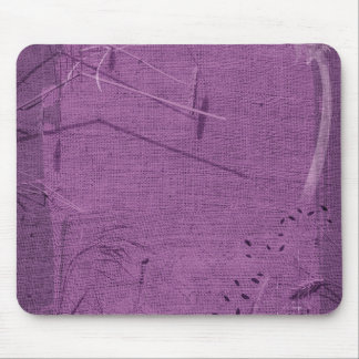 Purple grunge fabric background type design mouse pad
