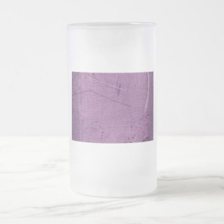 Purple grunge fabric background type design 16 oz frosted glass beer mug