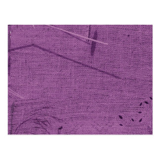 Purple grunge fabric background type design postcards