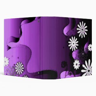 Purple Grunge Garden Set Binder