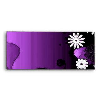 Purple Grunge Garden Set Envelope