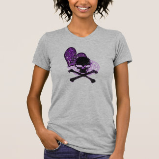 Purple Grunge Goth Heart Graphic T-Shirt