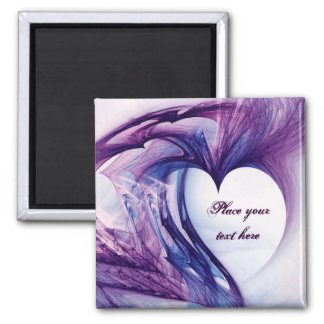Purple Grunge Heart Magnet