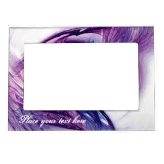 Purple Grunge Heart Magnetic Picture Frame