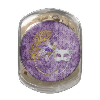 Purple Grunge Masquerade Glass Jar of JellyBellies