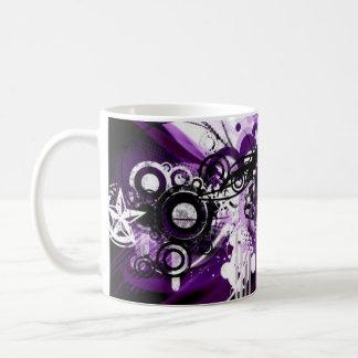 Purple grunge star mug