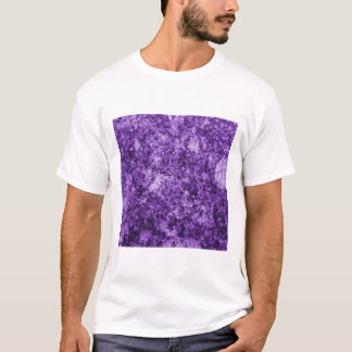 Purple Grungy Abstract Design T-Shirt