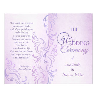 Purple grungy Wedding programs