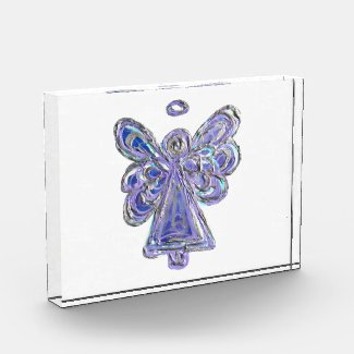 Purple Guardian Angel Art Paperweight Award